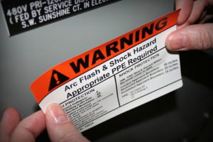 Photo of Arc Flash sticker